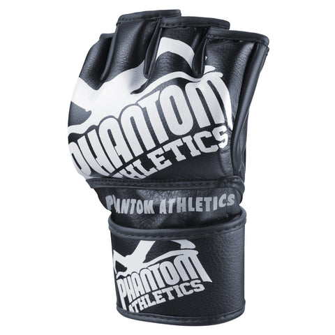 "Phantom Athletics MMA Gloves ""Blackout"" - Black/ White"