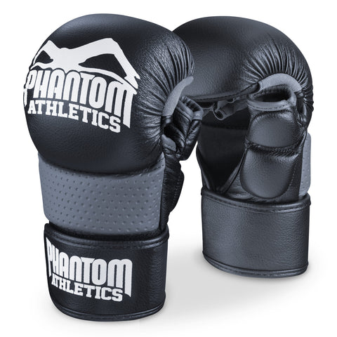 "Phantom Athletics MMA Sparring Gloves ""Riot"" - Black/White"