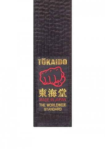 Karate Gürtel TOKAIDO schwarz - Made in Japan