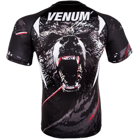 "Venum Rashguard ""Grizzli"" - Black/White - Shortsleeve"