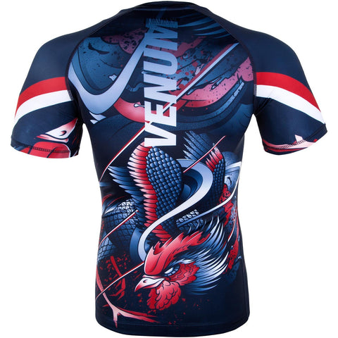 "Venum Rashguard ""Rooster"" - Navy/Orange - Shortsleeve"