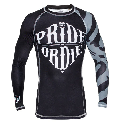 "Pride Or Die Rashguard ""Reckless"" - Black/White"