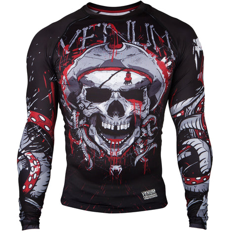 "Venum Rashguard ""Pirate 3.0"" - Black/Red - Longsleeve"