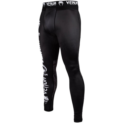 "Venum Compression Leggings ""Logos"" - Black/White"