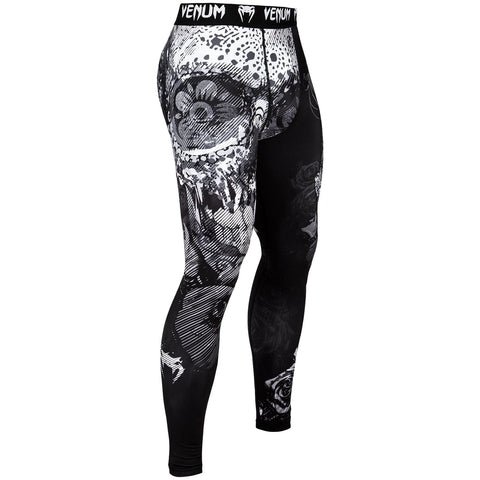 "Venum Compression Leggings ""Santa Muerte 3.0"" - Black/White"