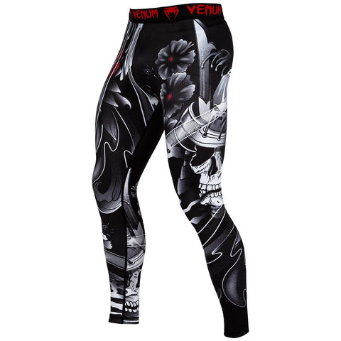 "Venum Compression Leggings ""Samurai Skull"" - Black"