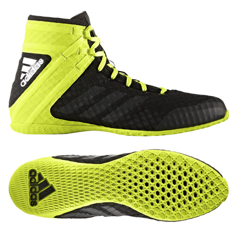 "Adidas Boxing Shoes ""Speedex 16.1"" - Black/Neon"