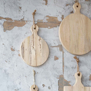 Bleached ROUND serving boards