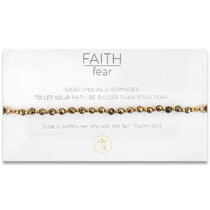 Faith Over Fear Pyrite Bracelet