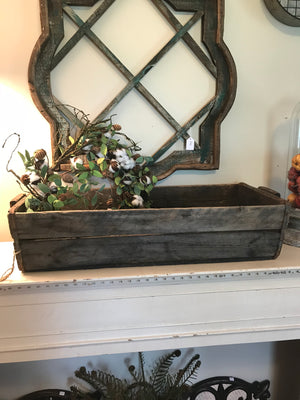 Vintage Wood Mail Trough