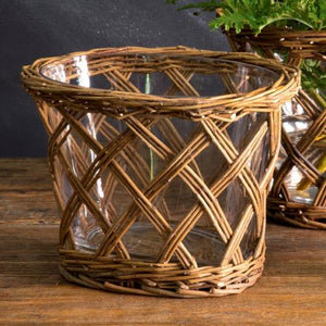 Oval Willow Vase