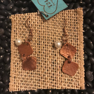 Copper Squares Earrings