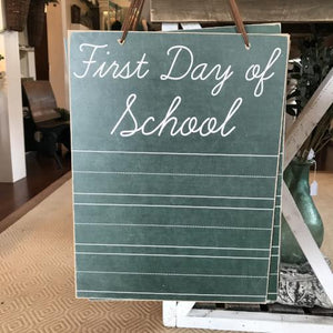 1st Day of School Chalkboard