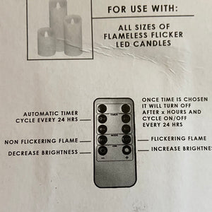 Remote Control (flameless candle)