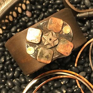 Leather Star Cuff