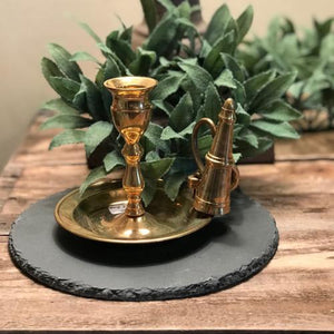 Brass Candle Holder and Snifter