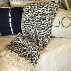 Gray Cotton Throw