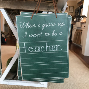 When I Grow Up... Chalkboard