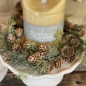 Pinecone and juniper candle ring