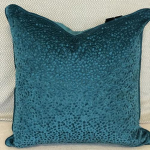 Teal Feather Pillows