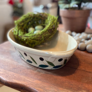 "Oval baking dish  ""Olive""  (found)"