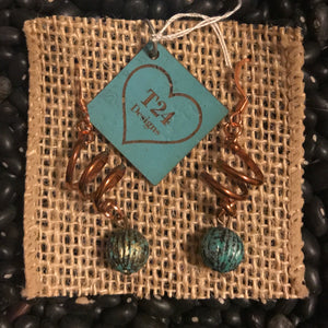 Copper Spring Earrings