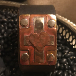 Leather Cross Cuff
