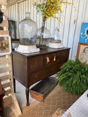 Antique buffet w/ mirror
