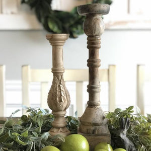 Wood Candlestick