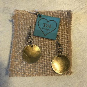 Brass Round Earrings