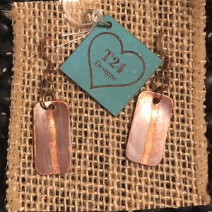 Burnished Copper Earrings