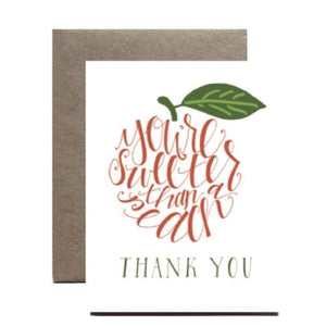 "Greeting Card ""You're sweeter than a peach"""