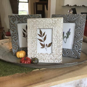 Carved Wood Photo Frames