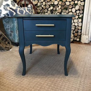 Hand Painted Aqua Nightstand