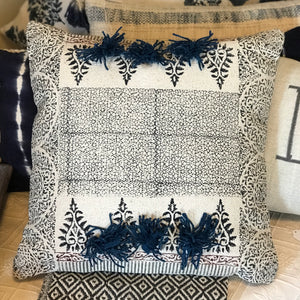 Blue Block Pillow
