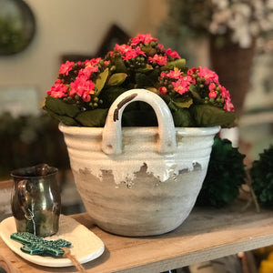 Oval Crackle Planter