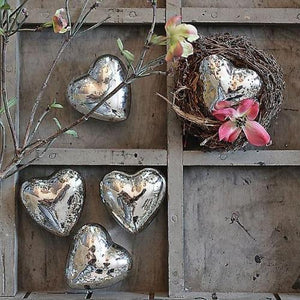 Mercury Glass Hearts