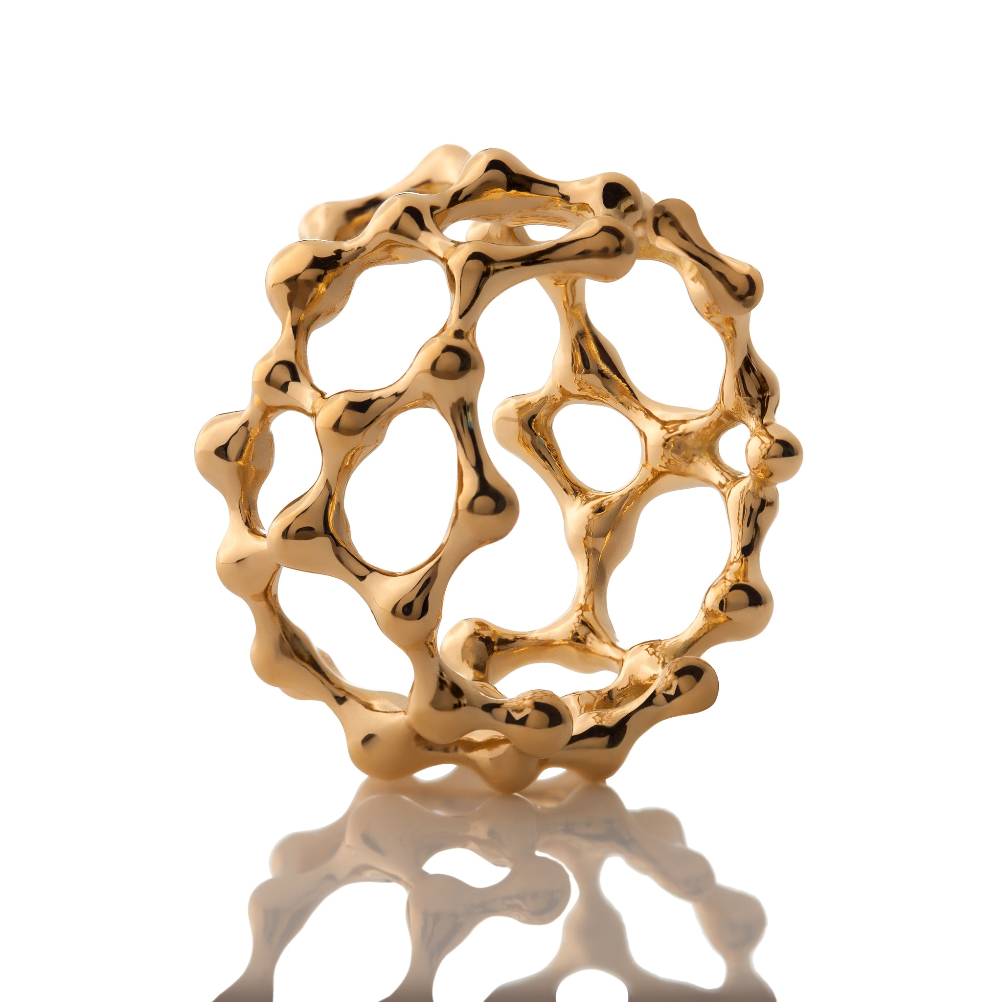 DNA 18K GOLD PLATED SILVER Atomic Ring