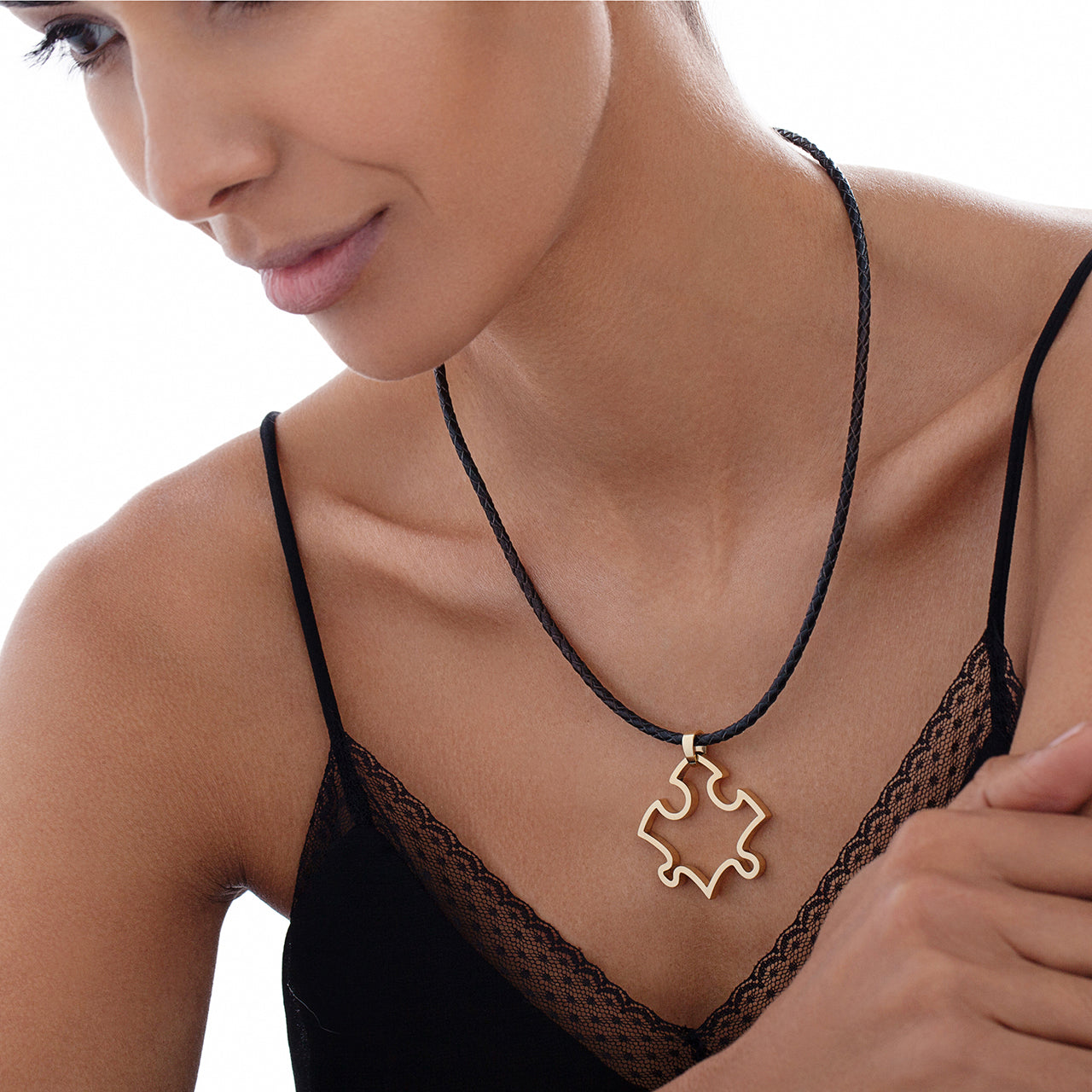 Puzzle Pendant on Model