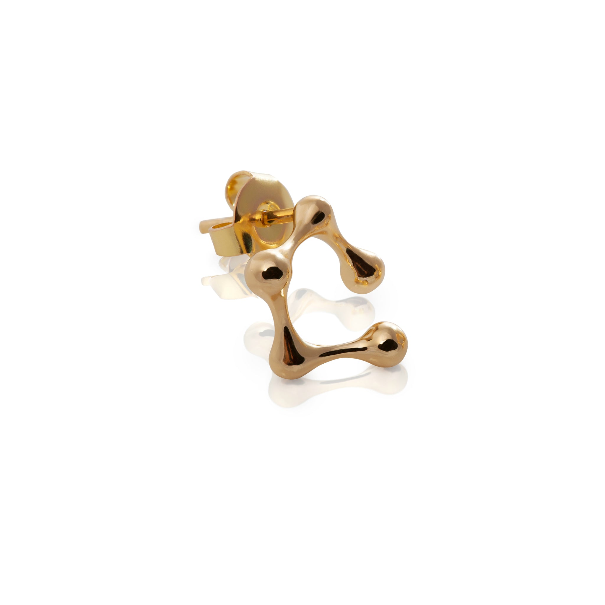 DNA 18K GOLD PLATED SILVER Small Atomic Earrings