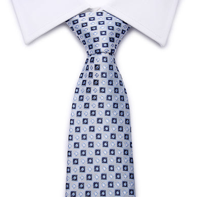 Gray Checkered Silk Tie