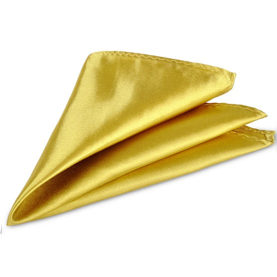 Luxury Solid Color Silk Pocket Square
