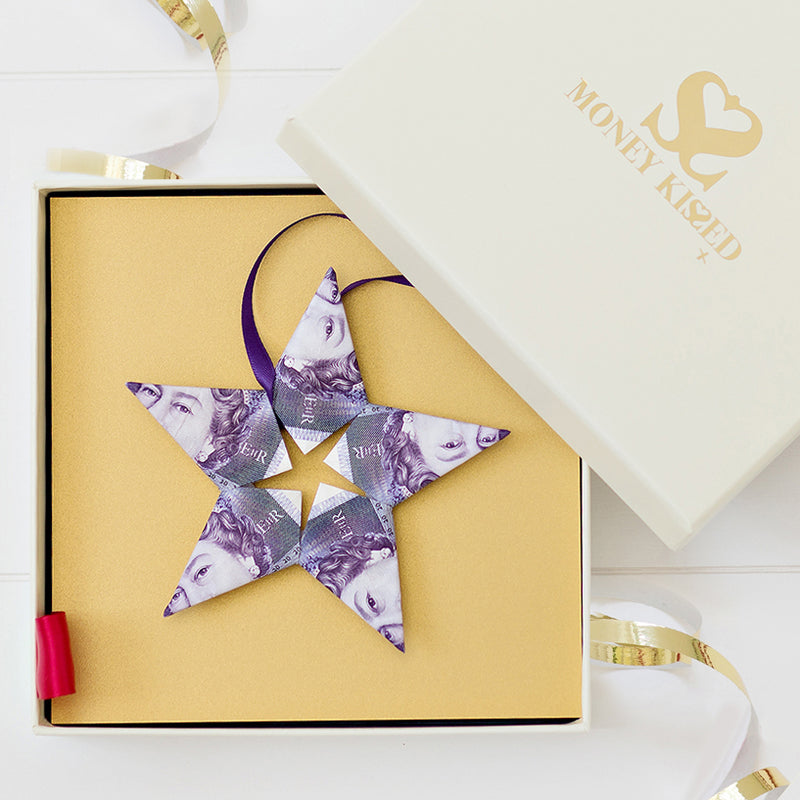 £100 Money Star gift with personalised message from Money Kissed