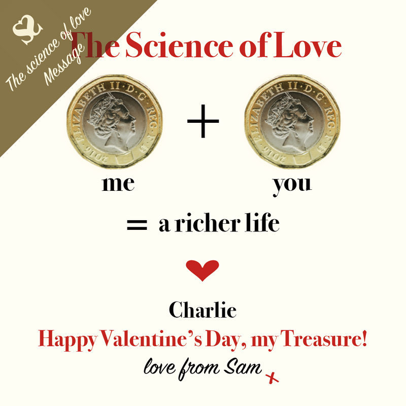 The Science of Love Money message for Valentine's Day
