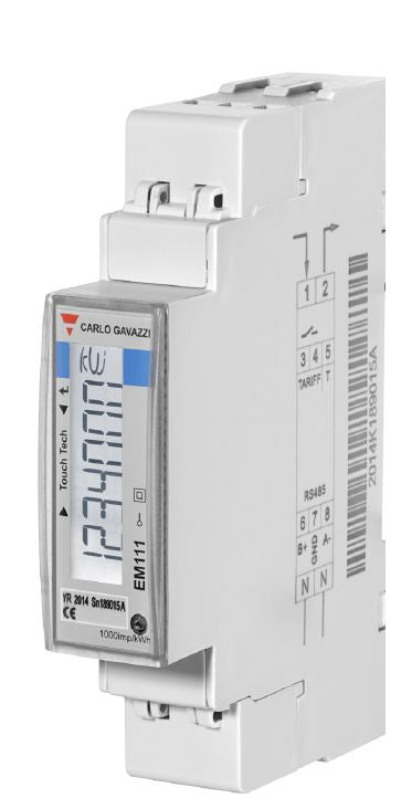 EM111 DIN - 1 Phase Electricity Meter 45A MID Certified | M-Bus Output