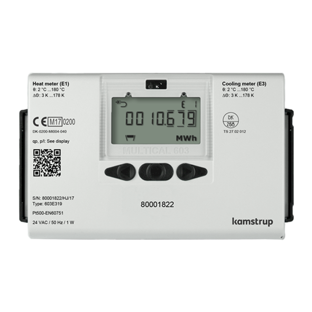 Kamstrup Multical 603 Heat Meter. DN65 qp 25.0m3/hr.