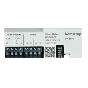 Kamstrup M-Bus + 2 Pulse Outputs Module