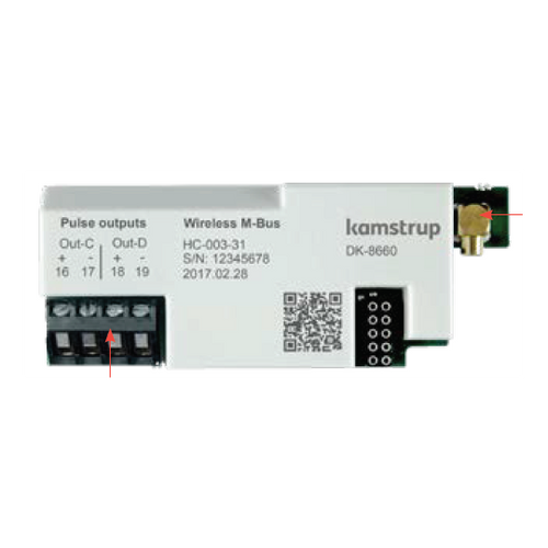 Kamstrup Wireless M-Bus + 2 Pulse Outputs Module