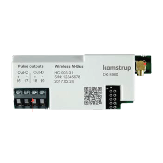 Kamstrup Wireless M-Bus + 2 Pulse Inputs Module