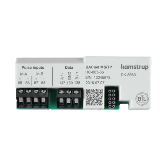 Kamstrup BACnet MS/TP (RS-485) + 2 pulse inputs Module